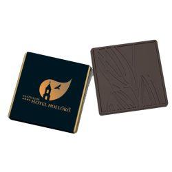 4×4 cm mini csokoládé (tejcsokoládé, étcsokoládé)